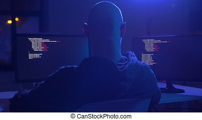 fail of hacker using computer for cyber attack - cybercrime,...