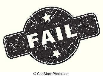 fail round grunge isolated stamp
