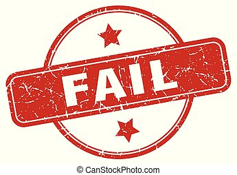 fail sign - fail vintage round isolated stamp