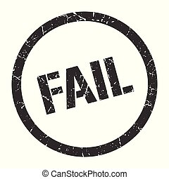 fail stamp - fail black round stamp