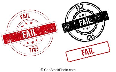 fail stamp fail square grunge sign red vintage label