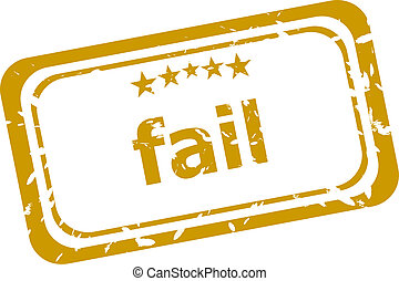 fail stamp isolated on white background