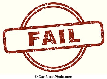 fail stamp isolated on white