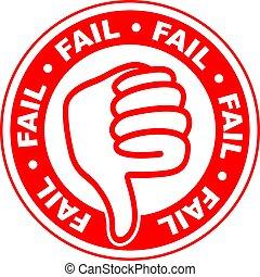 fail thumbs down stamp