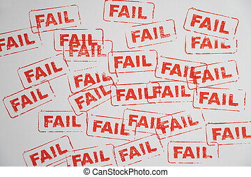 fail word stamp on white paper