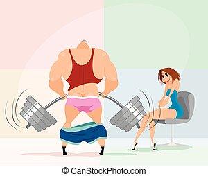 Failed demonstration performance of bodybuilder