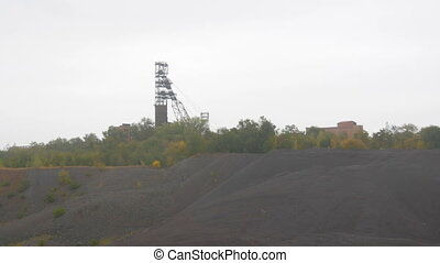 Failed quarry iron ore mine, mine construction. Industrial ...