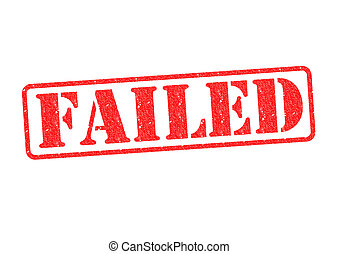 FAILED red rubber stamp over a white background.