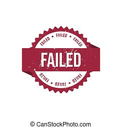 Failed round red grunge stamp stock illustration