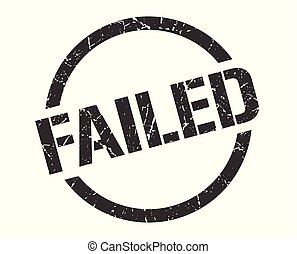 failed stamp - failed black round stamp
