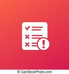 failed test icon for web