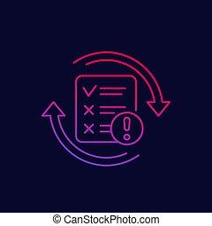failed test vector linear icon