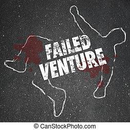 Failed Venture Chalk Outline Startup Business Dead Body Killed