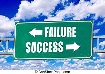 Failure and success sign