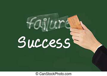 Failure and Success words on chalkboard