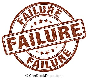 failure brown grunge stamp