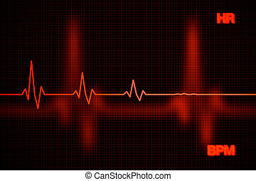 Failure Heart Rate Graph Background