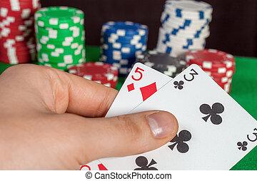failure poker, a bad card in hand; bluff - failure in poker,...