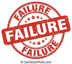 failure red grunge stamp