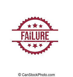 Failure round red grunge stamp stock illustration
