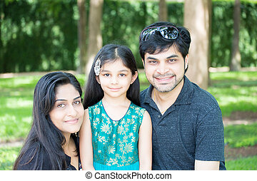 Faimly hanging out together - Closeup portrait, happy family...