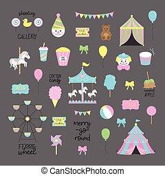 fair carnival set