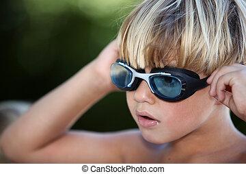 fair-haired kid