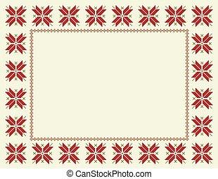 Fair Isle Christmas Frame