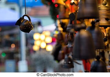 Fair of souvenirs on the streets before Christmas - Fair on...