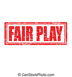 Fair Play-stamp - Grunge rubber stamp with text Fair Play, ...