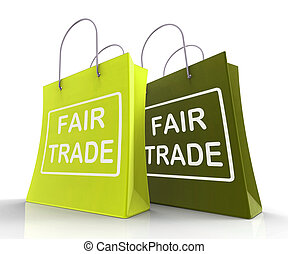Fair Trade Bag Represents Equal Deals and Exchange - Fair...