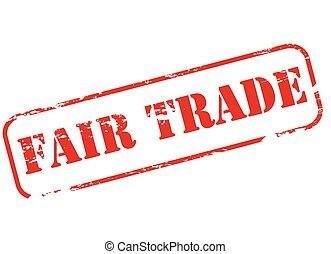Fair trade - Stamp with text fair trade inside, vector...