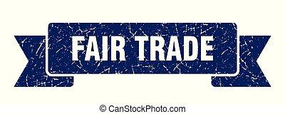 fair trade grunge ribbon. fair trade sign. fair trade banner