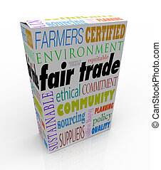 Fair Trade Product Box Package Advertising Sustainable ...