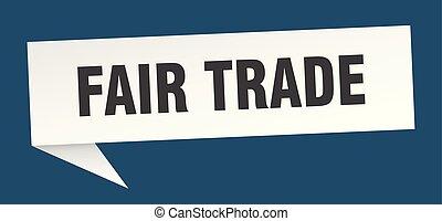 fair trade speech bubble. fair trade sign. fair trade banner