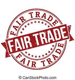 Fair trade stamp - Fair trade grunge rubber stamp or label...