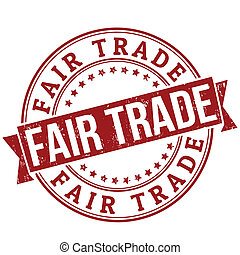 Fair trade stamp - Fair trade grunge rubber stamp or label...