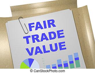 Fair-Trade Value - business concept