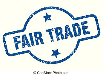 fair trade vintage stamp. fair trade sign