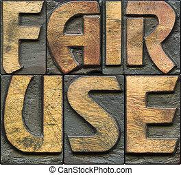 FAIR USE wooden letterpress
