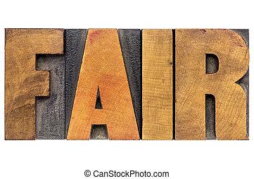 fair word typography