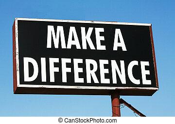 faire, a, différence