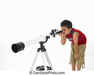 faire astronomie, garçon
