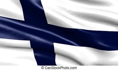 faire boucle, drapeau, finlande, fond