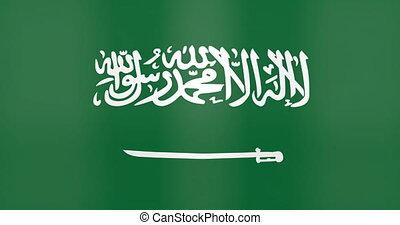 faire boucle, fond, arabie, saoudien, onduler drapeau