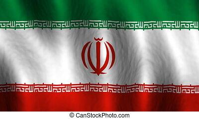 faire boucle, iran, fond, drapeau