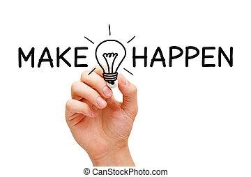 faire, concept, idées, happen