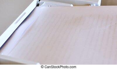 faire copie, machine, copie, documents