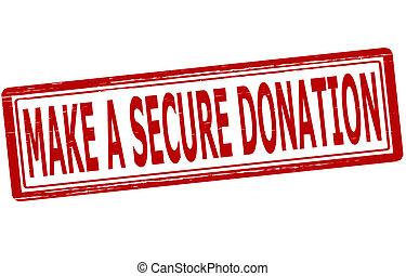 faire, donation, assurer