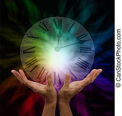 faire, guérison, temps